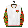 Kente Bomber Jacket (White)