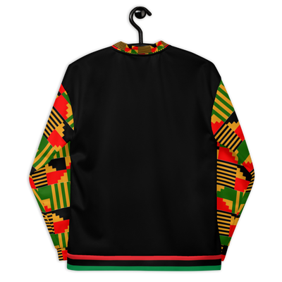 Kente Bomber Jacket (Black)