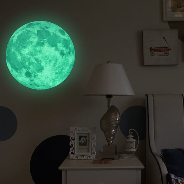 Large Moon Glow In The Dark Wall Sticker