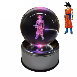 Goku 3D Crystal Ball LED Night Lamp