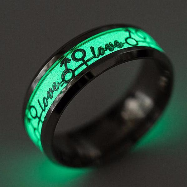 LOVE Glow In The Dark Fashion Ring