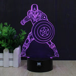 Captain America 3D Night Lamp