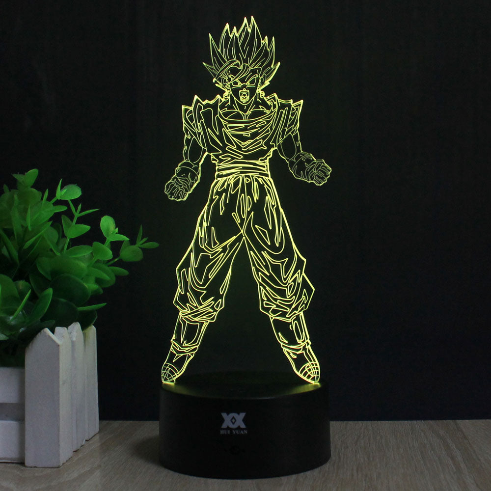 DBZ Son Goku Super Saiyan 3D Lamp