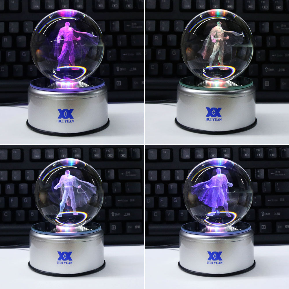 Superman 3D Crystal Ball Lamp