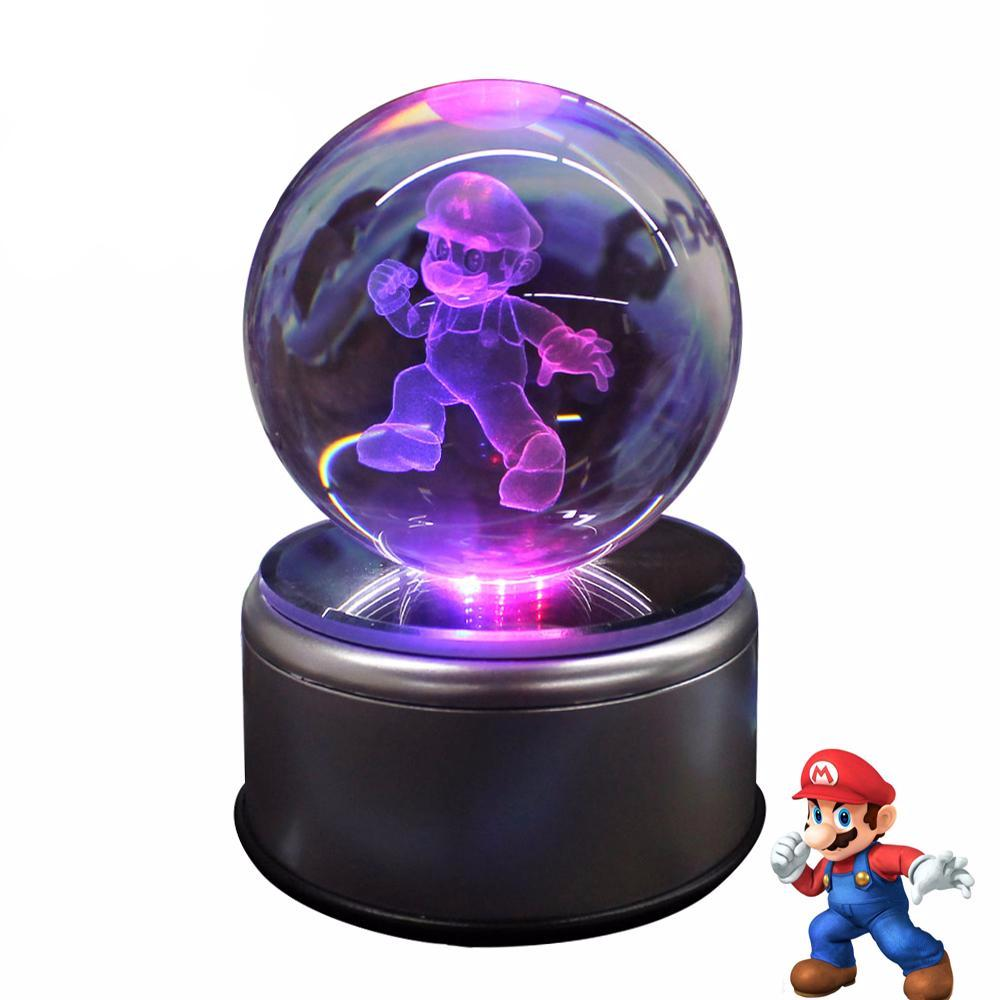 Mario Rotating Crystal Ball Lamp