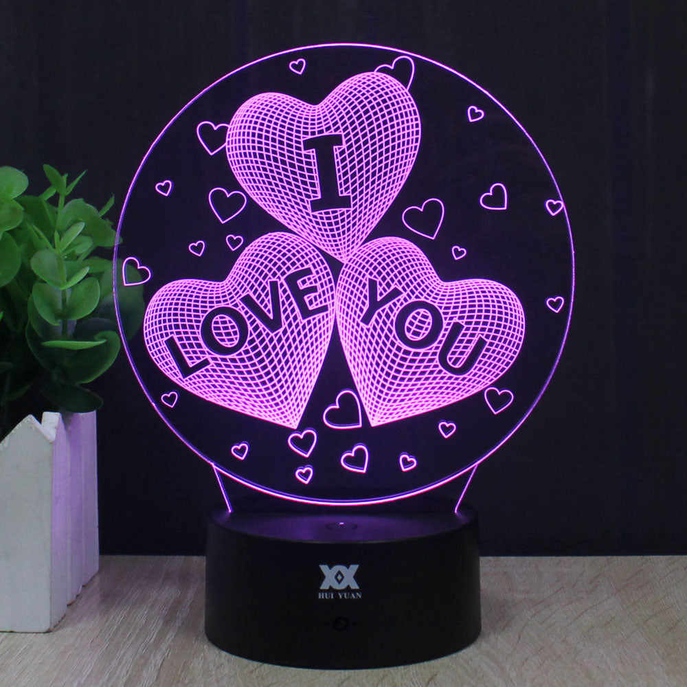Love Is In The Air 3D Night Lamps