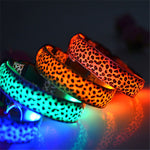 Leopard Light Up Pet Collars