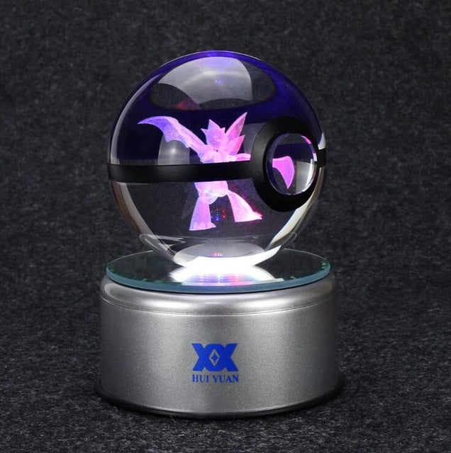 Pokemon Go Rotating Crystal Ball LED Lamp