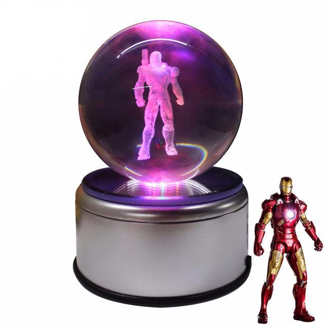 Iron Man 3D Crystal Ball Lamp