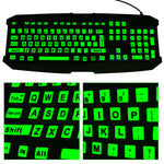 Full Keyboard Glow In The Dark Stickers