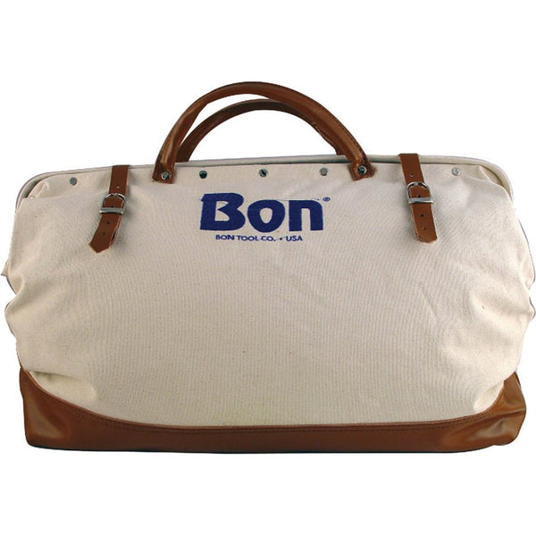 "Bon Tool 11-125  TOOL BAG - 20"" CANVAS WITH LEATHER BOTTOM"