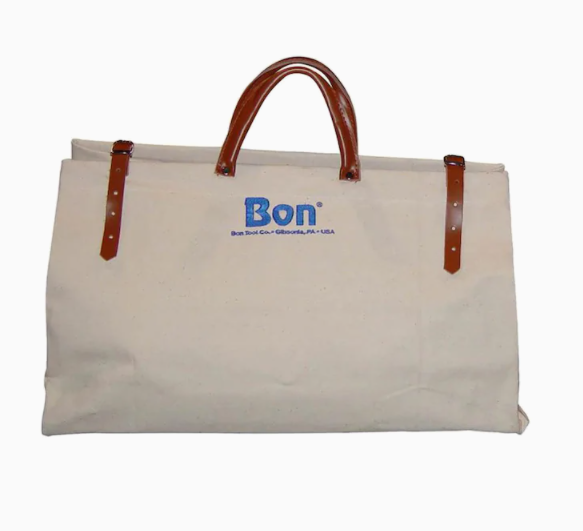 "Bon Tool 11-126  TOOL BAG - 24"" CANVAS WITH LEATHER BOTTOM"