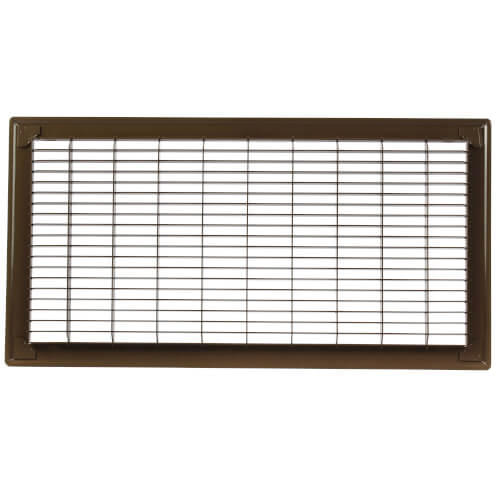 "Hart and Cooley 11885 10"" x 20"" (Wall Opening Size) Golden Sand Floor Return Air Grille (265 Series)"