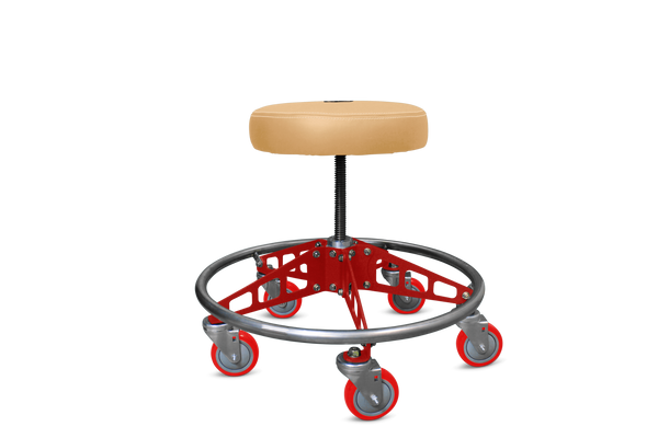 VYPER CHAIR VC-RS-TAN-RED-RED ROBUST STEEL WITH SEAT COLOR - TAN ARM COLOR - RED WHEEL COLOR - RED