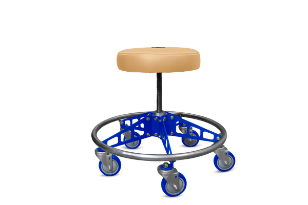 VYPER CHAIR VC-RS-TAN-BLU-BLU ROBUST STEEL WITH SEAT COLOR - TAN ARM COLOR - BLUE WHEEL COLOR - BLUE
