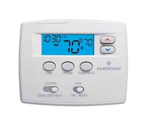 White-Rodgers 1F80-0261  Single Stage Programmable Thermostat  Hardwired Or Battery Powered, Easy To Read 2 Sq. Inch Display & Backlit 1H-1C