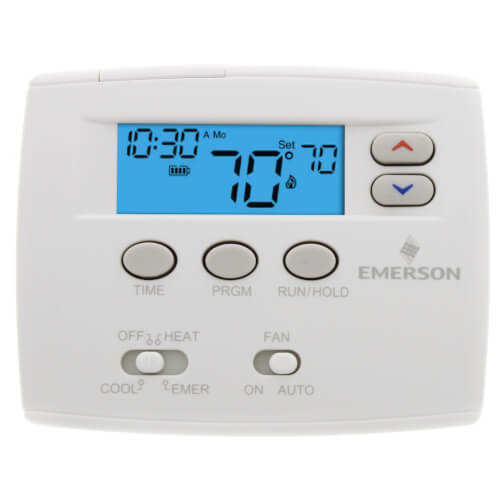 White Rodgers 1F82-0261 - 5+1+1 Day Programmable Blue Thermostat, 2/1HP Image