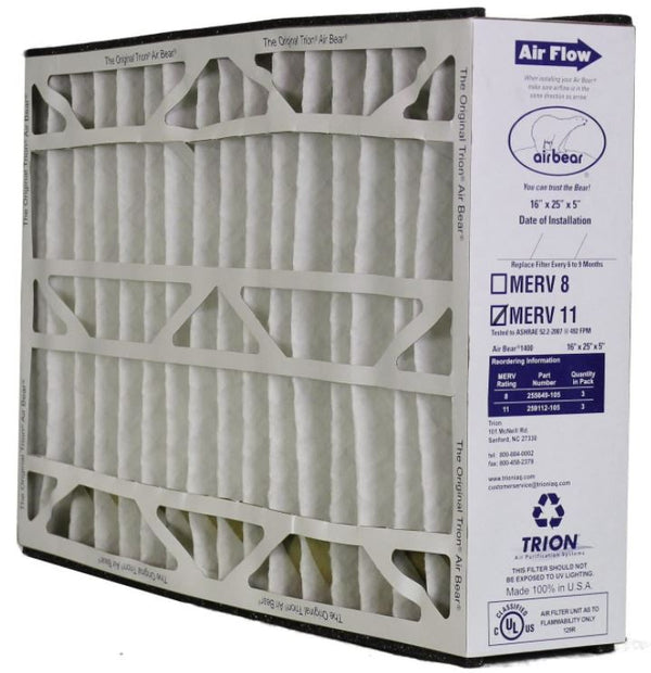 Trion 259112-105 - 16x25x5 Trion Air Bear Supreme 1400 MERV 11 Media Filter
