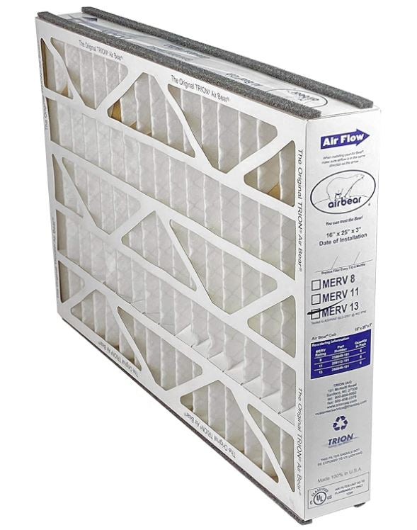 "Trion 266649-101 - 16"" x 25"" x 3"" MERV 13 Pleated Air Filter"