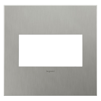 Adorne by Legrand AWC2GBS4 - BRUSHED STAINLESS STEEL 2-GANG WALL PLATE