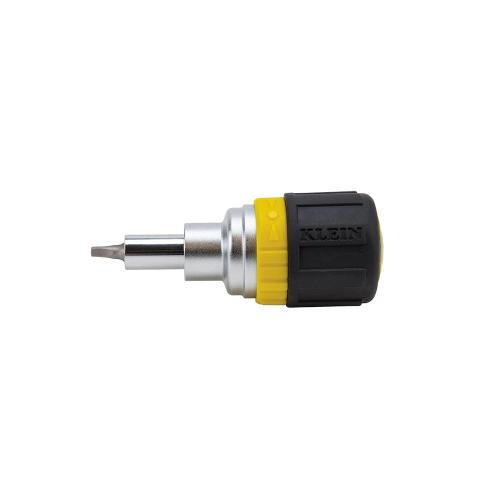 Klein Tools 32594 - 6-in-1 Screwdriver, Stubby, Square Recess Image
