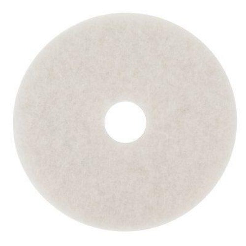 3M 7000000685 - White Super Polish Pad, 4100, 381 mm (15 in) (5 - Pack)