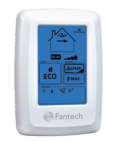 Fantech 414727 ECO-Touch Electronic Programmable Wall Control manual or automatic ECO operation mode