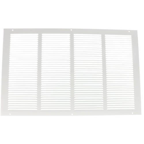 "Hart and Cooley 043158 - 20"" x 14"" (Wall Opening Size) White Return Air Grille (650 Series)"