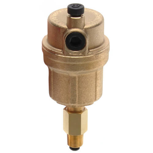 "Caleffi  502710A 1/8"" Npt. Male Automatic Air Vent with Check Valve"