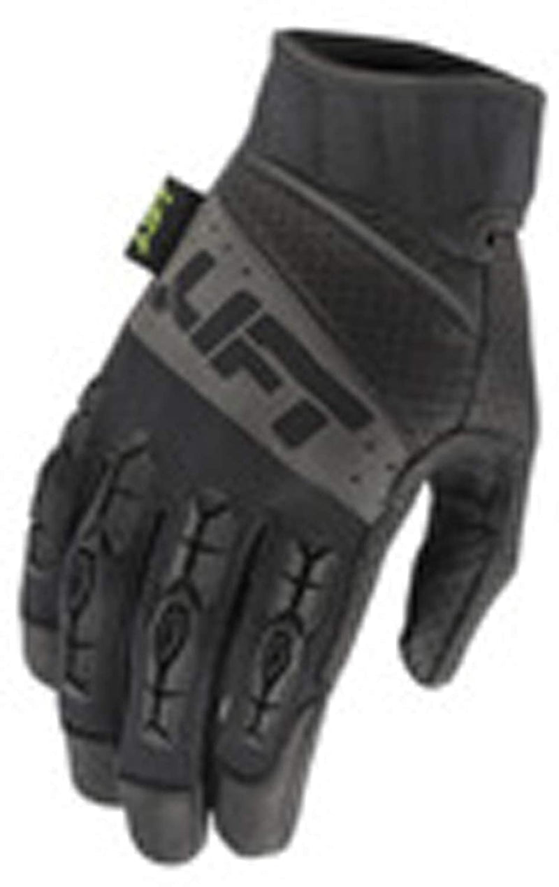 LIFT Safety GTA-17KKL Gloves - PRO Series Tacker Glove (Black/Black)- Genuine Leather Anti-Vibe Pair