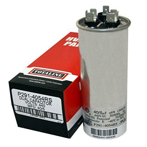 Carrier P291-4054RS - Run Capacitor Round 370/440V Dual 40/5MFD (Totaline) Image