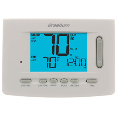 Braeburn 5220 - Premier 7 Day Non-Programmable Thermostat 3 Heat/2 Cool