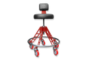 VYPER CHAIR VC-ESM-BLK-RED-RED ELEVATED STEEL MAX WITH SEAT COLOR - BLACK ARM COLOR - RED WHEEL COLOR - RED