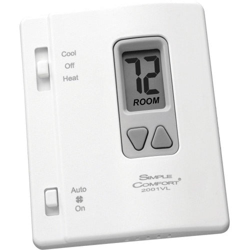 ICM Controls SC2001VL - Thermostat, 1-stage Heat / Cool pump, Vertical, backlit, Hardwire