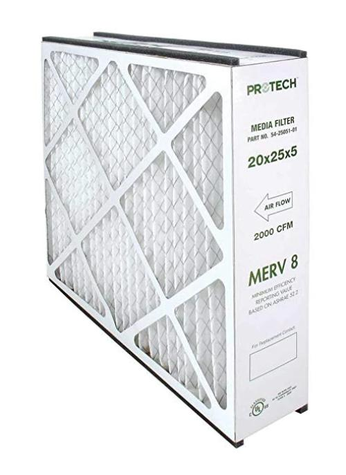 Protech 54-25051-01 - MERV 8 Media Filter Replacement - 5 in. x 20 in. x 25 in. Image