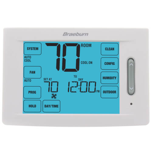 Braeburn 6425 - 7 Day, 5-2 Day Programmable Touchscreen Hybrid Thermostat w/ Humidification Control (4H/2C)