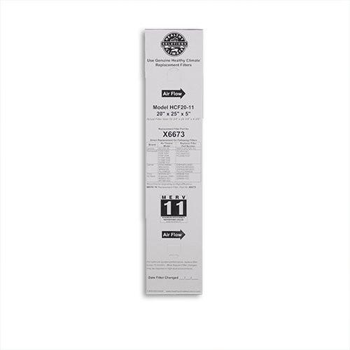 "Lennox X6673 - Healthy Climate HCF20-11 20""x 25""x5"" Replacement Filter, MERV 11 Image"