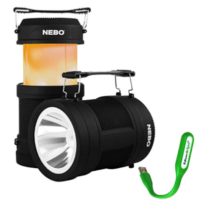 NEBO 6908 BIG POPPY 4-IN-1 LANTERN FLICKERING FLAME SPOT LIGHT