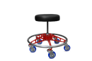 VYPER CHAIR VC-RS-BLK-RED-BLU ROBUST STEEL WITH SEAT COLOR - BLACK ARM COLOR - RED WHEEL COLOR - BLUE