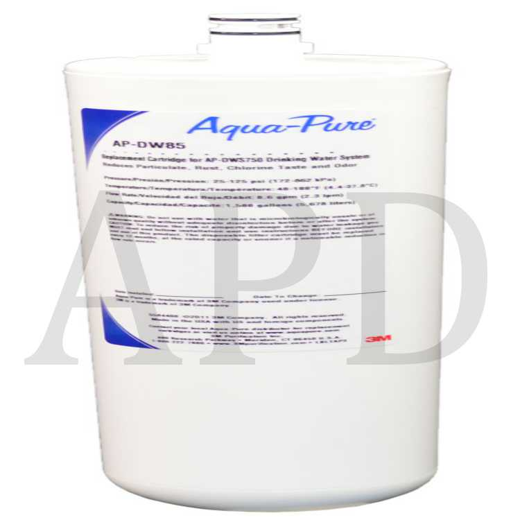 3M™ Aqua-Pure Under Sink Dedicated Faucet Replacement Water Filter Cartridge AP-DW85, 5584408, 6 Per Case