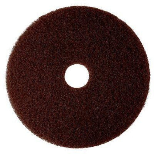 3M 7000000671 - Brown Stripper Pad, 7100, 381 mm (15 in) (5 - Pack)