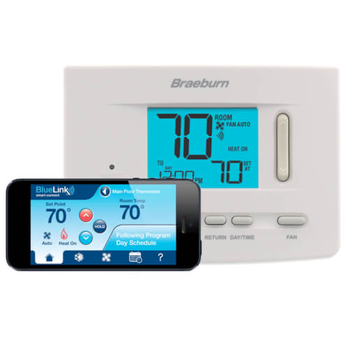 Braeburn 7205 - BlueLink Smart Wi-Fi Universal Programmable Thermostat Image