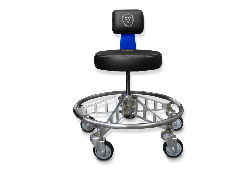 VYPER CHAIR VC-PAM-BLK-BLU-BLK PREMIER ALUMINUM MAX WITH SEAT COLOR - BLACK ARM COLOR - BLUE WHEEL COLOR - BLACK