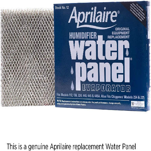 Aprilaire RPC12 - Replacement Water Panel for Aprilaire Whole House Humidifier Models 112, 224, 225, 440, 445, 448 (Pack of 1) Image