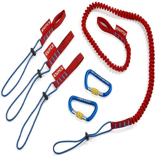 Knipex Tools 00-50-04-T-BKA - Tool Tethering System 1 Lanyard, 3 Adapter Strap and 2 Carabiners (005004TBKA)
