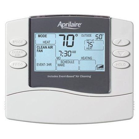 Aprilaire 8476 Programmable Thermostat Dual-Stage Heating/Cooling with Event-Based Air Cleaning, 5/1/1 day or 5/2 day