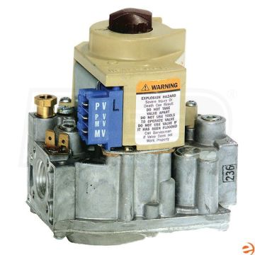"Honeywell VR8204A2076 - Intermittent Pilot Dual Automatic Valve Combination Gas Control, NG or LP, Standard Opening - 1/2"" In x 1/2"" Out Image"