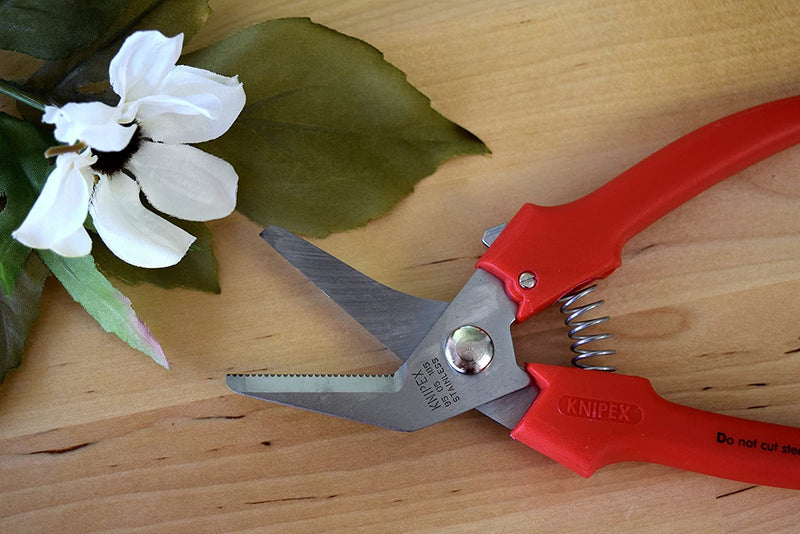 "Knipex 95-05-185 7.3"" Combination Shears 40 Degree Angled - Plastic Grip"