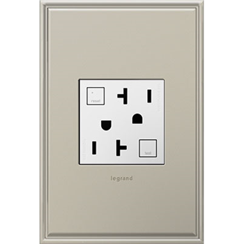 Adorne by Legrand AGFTR2202W4 TAMPER-RESISTANT GFCI OUTLET, 20A, WHITE