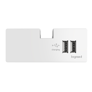 Adorne by Legrand APUSB3W4 USB OUTLET MODULE, WHITE